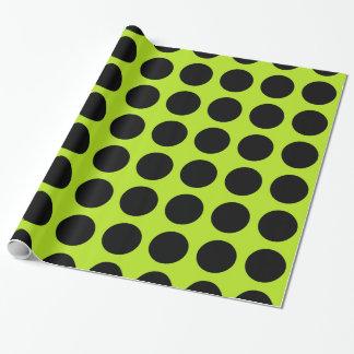 De zwarte Stippen kalken Groen Inpakpapier