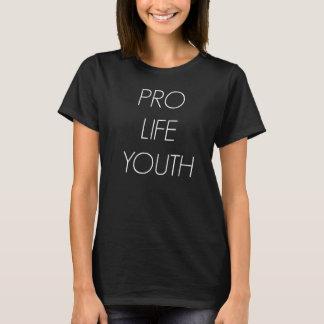 De Zwarte T-shirt van de Jeugd van ProLife van