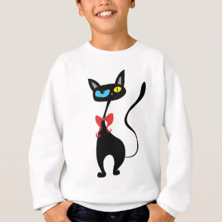 De zwarte T-shirt van de Kat