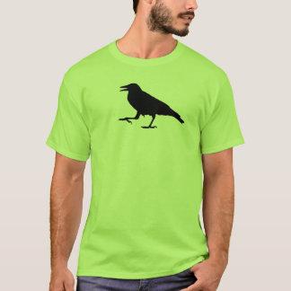 De zwarte T-shirt van de Kraai
