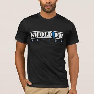 De zwarte T-shirt van de Natie Swoldier