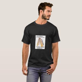 De zwarte T-shirt van het Mannen