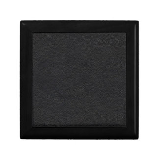 De zwarte Textuur van het Leer Decoratiedoosje