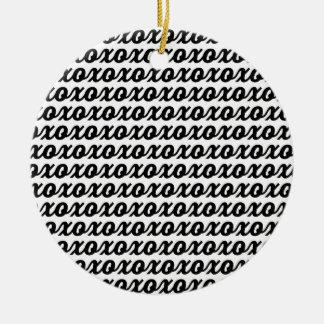 De Zwarte Typografie XOXO past Kleur aan Rond Keramisch Ornament