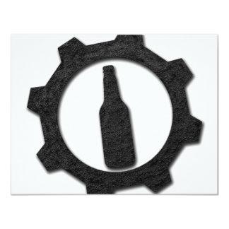 De zwarte van bieren 10,8x13,9 uitnodiging kaart