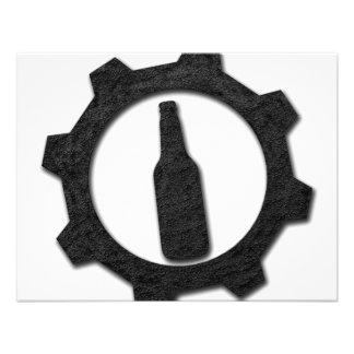 De zwarte van bieren gepersonaliseerde uitnodigingen