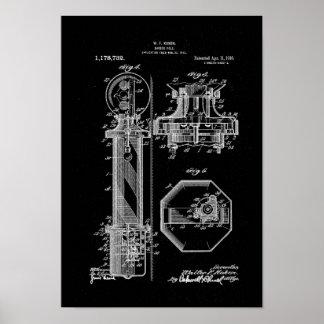 De zwarte van de Illustraties van het Octrooi van Poster