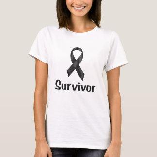 De Zwarte van de Overlevende van kanker T Shirt