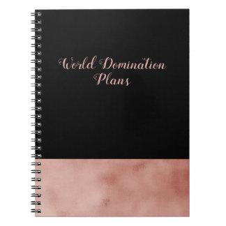 De zwarte van de Plannen van de Overheersing van Ringband Notitieboek