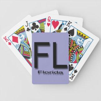 De zwarte van FL Florida Speelkaart