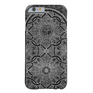 De Zwarte van het Gebrandschilderd glas van de Barely There iPhone 6 Hoesje