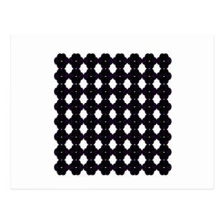 De zwarte van het kant op wit briefkaart