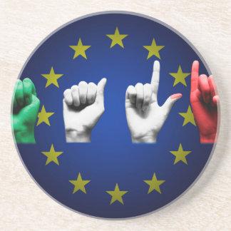 de zwarte van Italië Europa Zandsteen Onderzetter