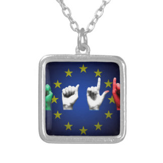 de zwarte van Italië Europa Zilver Vergulden Ketting