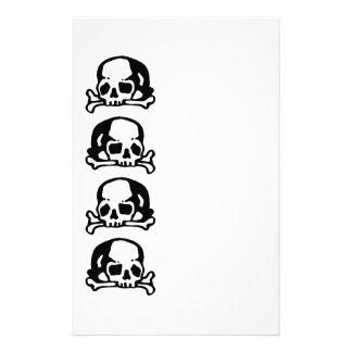 De zwarte van schedels en van het Bot Briefpapier