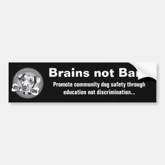 (De zwarte) Verboden van hersenen niet Bumpersticker