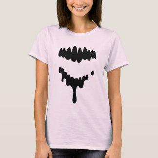 De zwarte Verloren Tanden van Zombieën op het T Shirt