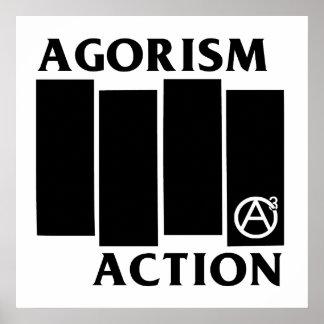 De Zwarte Vlag van de Actie van de Anarchie van Ag Poster