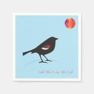 De zwarte vogel van speciale uitgavenTricolored Papieren Servetten