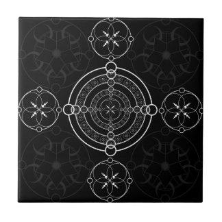 De zwarte Witte Cirkels van het Gewas Tegeltje