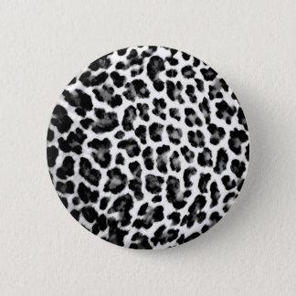 De zwarte & Witte Druk van de Luipaard Ronde Button 5,7 Cm