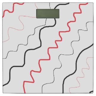 De zwarte, Witte en Rode Abstracte Schaal van de Personenweegschaal