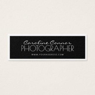 De Zwarte & Witte Gegrenste Kaart van de fotograaf Mini Visitekaartjes