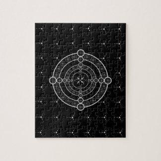 De zwarte Witte Geometrische Cirkel van het Gewas Puzzel