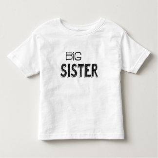 De zwarte & Witte Grote Typografie van de Zuster Kinder Shirts