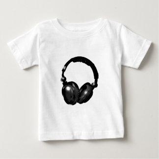 De zwarte & Witte Hoofdtelefoon van het Pop-art Baby T Shirts