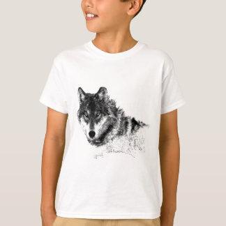 De zwarte Witte Inspirerend Ogen van de Wolf T Shirt