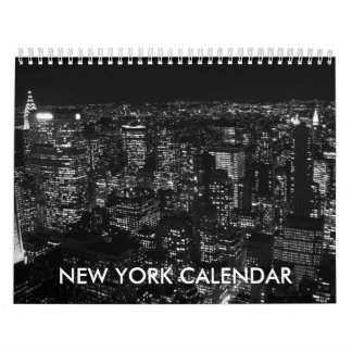 De zwarte Witte Kalender van de Stad 2018 van New