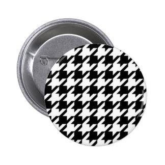De zwarte & Witte Knoop van de Oorringen van de Ronde Button 5,7 Cm