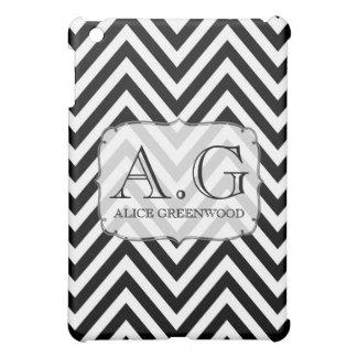 De zwarte Witte MiniDekking van het Monogram IPA iPad Mini Cases
