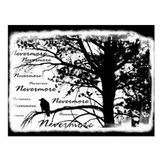 De zwarte & Witte Nevermore Boom van het Silhouet Briefkaart