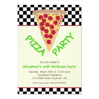 De zwarte & Witte Partij van de Pizza van het Kaart