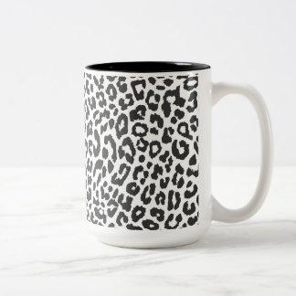 De zwarte & Witte Patronen van de Huid van de Druk Tweekleurige Koffiemok