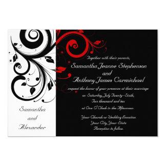 De zwarte/Witte/Rode Omgekeerde Uitnodigingen van