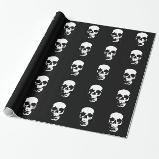 De zwarte & Witte Schedel van het Pop-art Cadeaupapier