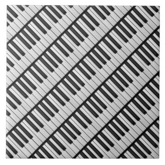 De zwarte & Witte Sleutels van de Piano Keramisch Tegeltje