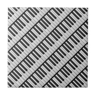 De zwarte & Witte Sleutels van de Piano Tegeltje