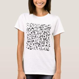 De zwarte & Witte T-shirt van de Nota's van de