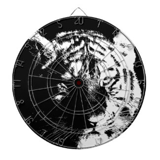De zwarte & Witte Tijger van het Pop-art Dartbord