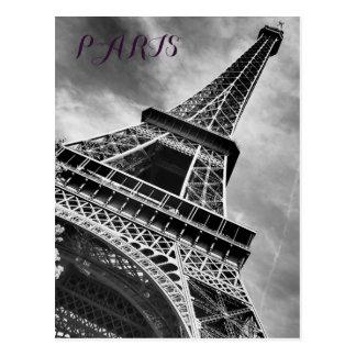 De zwarte & Witte Toren Parijs Europa van Eiffel Briefkaart