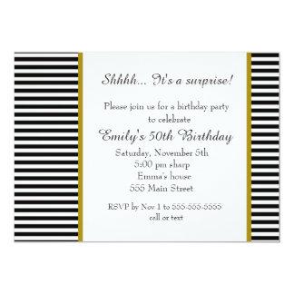 De zwarte Witte Uitnodiging van de Verjaardag van