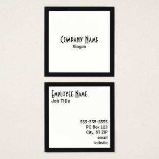 De zwarte Witte Vierkante Zwarte Tekst van de Vierkante Visitekaartjes