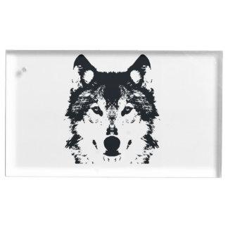 De Zwarte Wolf van de illustratie Tafelnummer Houder