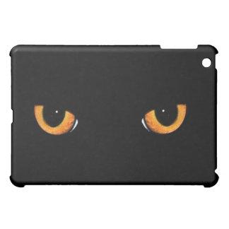De zwarte Zwarte van de Kat van de Ogen van de Kat iPad Mini Cases