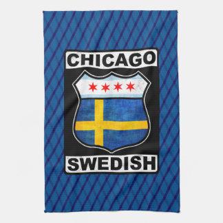 De Zweedse Amerikaanse Theedoeken van Chicago