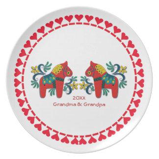 De Zweedse Paarden Dala personaliseerden Melamine+bord